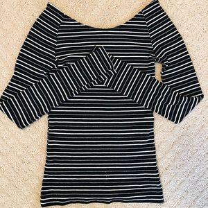 Zara Trafaluc striped top